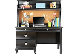milan black desk u0026 hutch desks black
