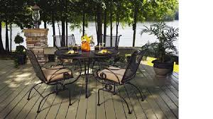 Black Rod Iron Patio Furniture Functional And Fun Approach Wrought Iron Patio Dining Table