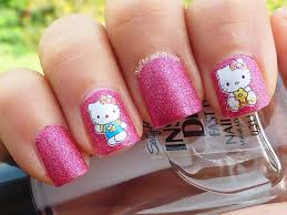 cute hello kitty nail art designs and stickers 2016 katty nails