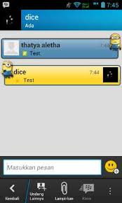 bbm apk bbm for android apk file with one minion animation theme