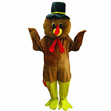 dress up america thanksgiving turkey mascot brown one