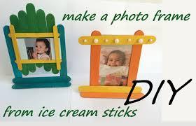 diy photo frames ice cream sticks popsicle fun craft activity