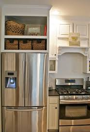 Storage Ideas For Kitchen Cabinets Above Refrigerator Cabinet Storage Ideas Best Home Furniture