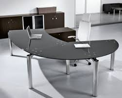 black modern desk furniture charming desks home office black glass office desk
