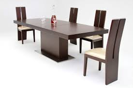 zenith modern red oak extendable dining table