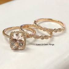 wedding trio sets 955 oval morganite engagement ring trio sets deco diamond