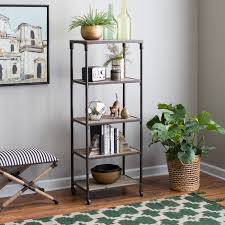 Tall Bookcase With Ladder by Bookcases Hayneedle