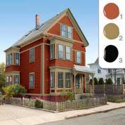 picking the exterior paint colors this house