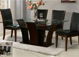 dining room intrigue glass top dining table with stone base