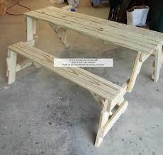 Folding Bench Picnic Table Bench Bench Picnic Table Combo Diy Folding Bench And Picnic