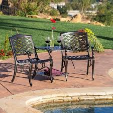 Christopher Knight Patio Furniture Reviews Sarasota Bronze Cast Aluminum Outdoor Adjoining Chair By