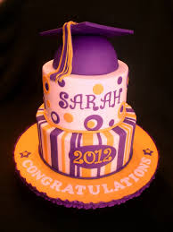 purple gold graduation cake valerie flickr