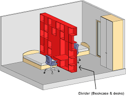 Ways To Divide A Room by How To Divide A Bedroom In Two Spaces