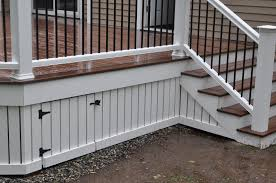 How To Put Up A Handrail Decks Com Deck Skirting And Fascia
