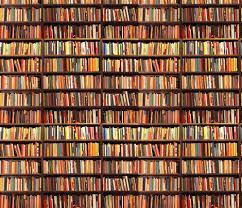 wallpaper that looks like bookshelves book shelf fabric lauredesigns spoonflower