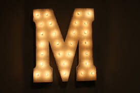 white light up letters marquee light up letter m white rentals