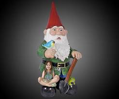 Lawn Gnome by 8 1 2 Foot Tall Garden Gnome Statue Dudeiwantthat Com
