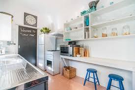 Coastal Cottage Kitchen - linoleum kitchen kitchen beach style with coastal cottage coastal