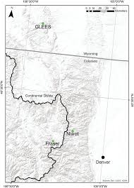 Map Of Denver Colorado by Location Of Field Sites Relative To Denver Colorado The