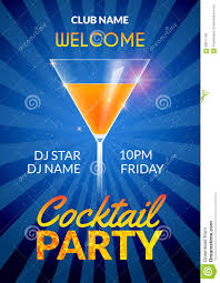 cocktail invitation design poster cocktail party drink banner