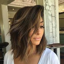 long bob hairstyles brunette summer 21 cute lob haircuts for this summer caramel balayage highlights