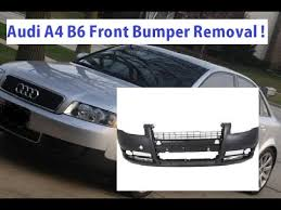 2003 audi a4 front bumper cover audi a4 b6 front bumper removal and replacement in 5 minutes
