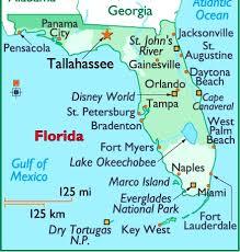 florida towns map map of florida usa geology