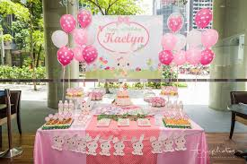 themed dessert table rabbit theme birthday party dessert table at the bank bar