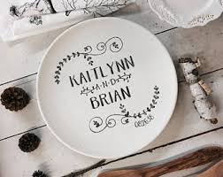 personalized wedding platter wedding name plate etsy