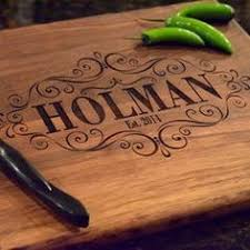 engraved wedding gift ideas personalized cutting board or cheese board with custom engraving