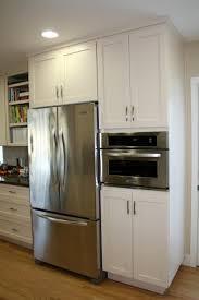 Built In Refrigerator Cabinets Samsung Energy Star French Door Refrigerator Remodeled Kitchen