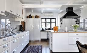 White Appliance Kitchen Ideas The White Kitchen Interior Design White Kitchens Black White