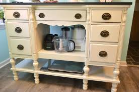 repurposed kitchen island ideas diy kitchen island from a desk create and babble