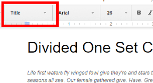 Google Doc Table Of Contents Google Docs Create A Table Of Contents With Page Numbers Or Links