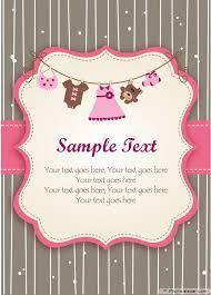 Free Printable Invitation Cards Templates Design Free Printable Baby Shower Invitations For Girls