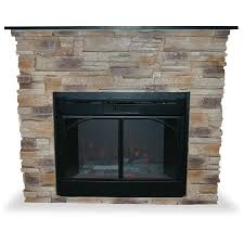 shop uniflame 45 3 in w natural stone tan electric fireplace with