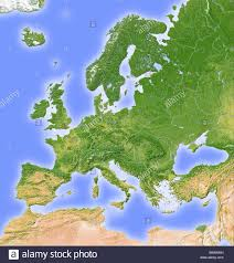Relief Map Europe Shaded Relief Map Stock Photo Royalty Free Image