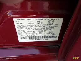 2004 altima color code a15 for sonoma sunset pearl red photo