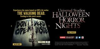 videos of halloween horror nights universal studios behind the thrills the walking dead will come to life at