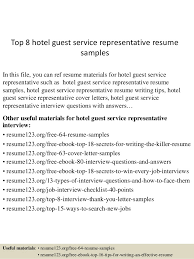 Resume For Hotel Jobs by Guest Services Resume Guest Service Representative Resume Samples