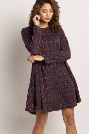 plaid sweater burgundy faded plaid maternity sweater dress