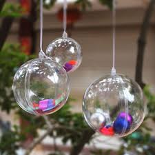 ornaments clear ornaments diy large clear