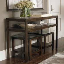 traverse console table by bassett furniture features clean lines