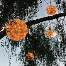 6 led hanging tree light light sphere hanging snow