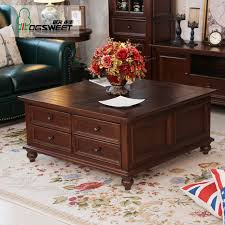 ash coffee table with drawers no 4 large ash wood coffee table storage small square wooden living