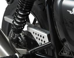 sw motech aluminum chain guard for select triumph motorcycles
