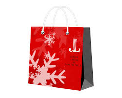 christmas shopping bags feminine playful bag and tote design for inda dodson by