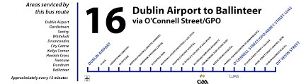 Map Routing by Dublin Bus Routing Information U2013 The Number 16 Northside As A