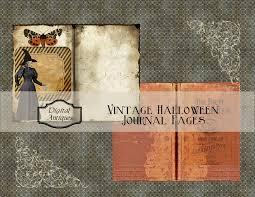 halloween journal digital antiques