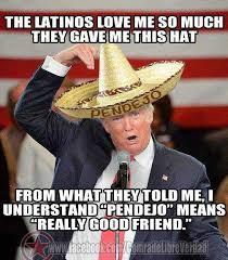 Mexican Sombrero Meme - sparks mexico pendejo trump